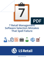 7 Retail Management Software Selection Mistakes That Spell Failure