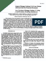 Pengaturan Pembungaan Mangga Gadung 21 di Luar Musim dengan Paclobutrazol dan Zat Pemecah Dormansi