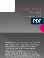 Analisis Titrimetri