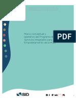 Marco Conceptual y Operativo Del Programa de Servicios Integrados Para El Empoderamiento de La Mujer