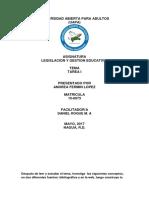 TAREA 1, DE LEGISLACION Y GESTION EDUCATICA..docx