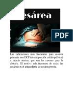 Indicaciones Para Cesarea