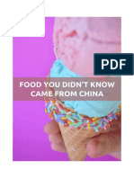 Food You Didn't Know Came From China