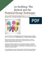 Pre MT Rdg#1. Delphi Method & Nominal Group Technique for Consensus Building