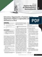 Estructura, Organización y Funciones Del Sistema Electoral - MAYO 2010