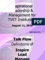 Inspirational Leadership and Management for TVET Institutions