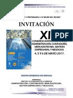 Xiv Congreso Internacional de Administración Contaduría Mercadotecnia Gestión Empresarial y Negocios