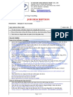 Job Description - ProjectMgr