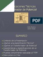 60 - Presentacion Especificaciones Tecnicas Transformador de Potencia - Carlos Mendoza - Ignacio Vargas - 2007-10-30