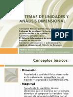 Sistema de unidades análisis dimensional