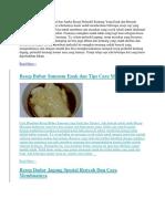 Tips Cara Membuat Perkedel Dan Aneka Resep Perkedel Kentang Yang Enak Dan Renyah