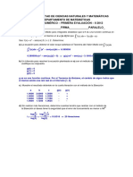 Analisis Numerico Primera Evaluacion II 2012 Solucion