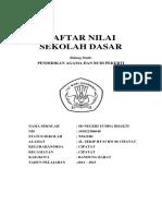 Cover Daftar Nilai Pai