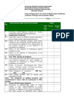 2014 Revised Pre-screening Checklist - Cosmetics Division
