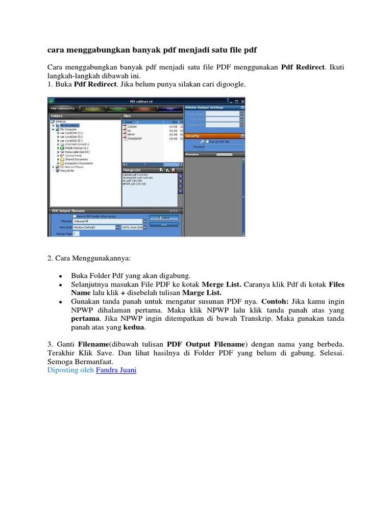 cara menggabungkan file pdf menjadi satu file