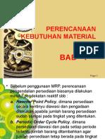 Bab 7 Perencanaan Kebutuhan Material