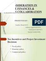 Tax Consideration in Project Finances
