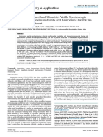 Trivedi Effect - Fourier Transform Infrared and Ultraviolet-Visible Spectroscopic Characterization of Ammonium Acetate and Ammonium Chloride
