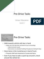 2.1.5 Pre-Drive Tasks