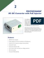 PDCPOEVA48AF , DC - DC Converter + 802.3af PoE Injector 9 - 36 VDC In and 48 VDC PoE Out