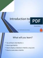 Week 1b - Intro to MySQL