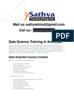 Data Science  Training Institute In Hyderabad