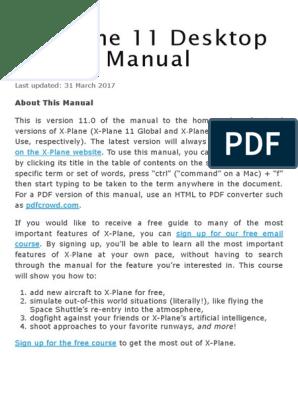 X-Plane 11 Desktop Manual _ X-Plane_A4 | Airplane