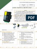F7114 GPS+GPRS IP MODEM TECHNICAL SPECIFICATION