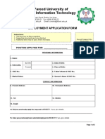 KFUEIT Employment Application Form