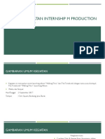 Laporan Kegiatan Internship m Production
