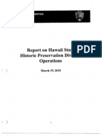 National Park Service Report on Hawaii State Historic Preservation Division Operations, July 2009