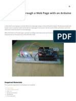 Control LEDs Through a Web Page With an Arduino