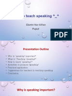 How to teach speaking ^_^