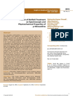 Trivedi Work - Impact of Biofield Treatment on Spectroscopic and Physicochemical Properties of p-Nitroaniline