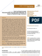 Trivedi Effect - Physicochemical and Spectroscopic Characterization of p-Chlorobenzaldehyde