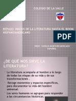 Repaso-Inicios de la literatura hasta el Boom Hispanoamericano