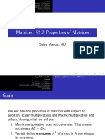 Properties of Matrices