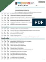 Checklist Pile Driving 1