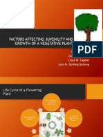Factors Affecting Juvenility and Growth of a Vegetative