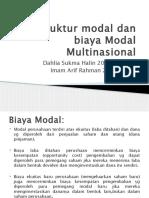 Struktur Modal Dan Biaya Modal Multinasional