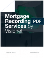 Mortgage Recording Services by Visionet