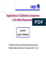 Applications of Calibration Comparison  in On-Wafer Measurement