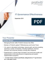 IT Governance Effectiveness
