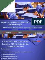 Download IBM C2150-606 Security Guardium V10.0 Exam Dumps Available in PDF - Dumps4free