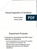 Visual Inspection of Surfaces NASA