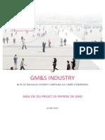 Le dossier expert comptable sur l'offre de repris de GM&S