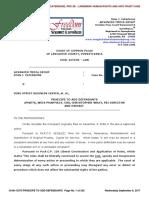 Lancaster County Court Case No. 08-CI-13373 re PRAECIPE TO ADD DEFENDANTS AMVETS, WEIS PHARMACY, CVS, CHRISTOPHER WRAY, FBI DIRECTOR of September 6, 2017