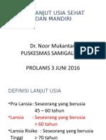 pROLANIS lansia sehat mandiri 3 juni 2016.ppt