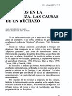 - ORDÓÑEZ (1990) - Objetivos en La Enseñanza. Las Causas de Un Rechazo [Para Caso EEUU y URSS]
