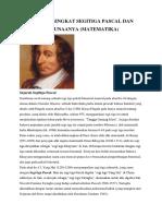 Sejarah Singkat Segitiga Pascal Dan Kegunaanya